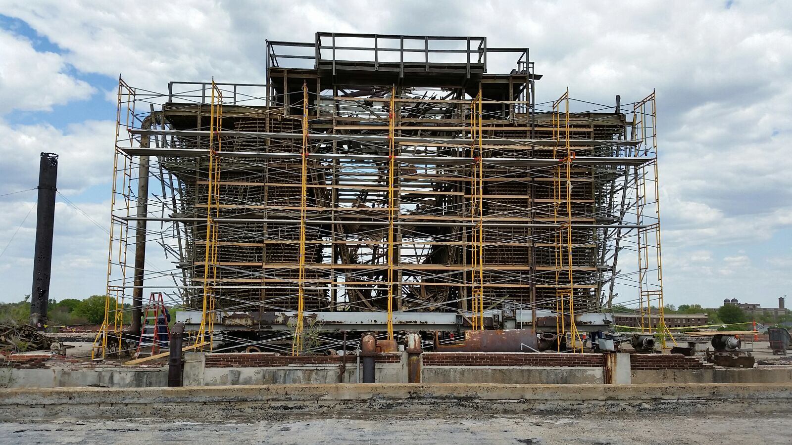 Carter Carb Cooling Tower with Scaffolding Photo